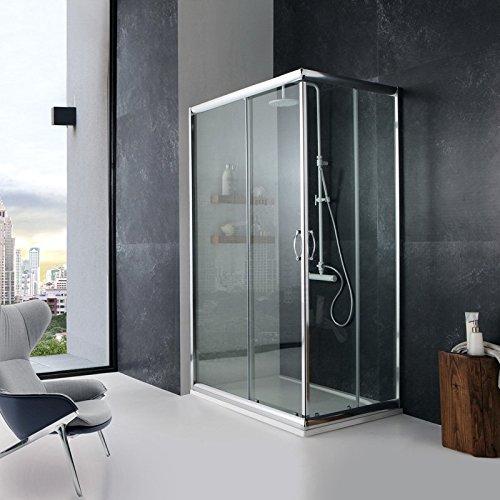 dusche duschabtrennung 70x100 cm giada rechteckig klarglas - Dusche Rechteckig Mase