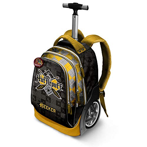 Harry Potter Quidditch Hufflepuff-GT Travel Trolley-Rucksack Zaino Casual, 42 liters, Giallo