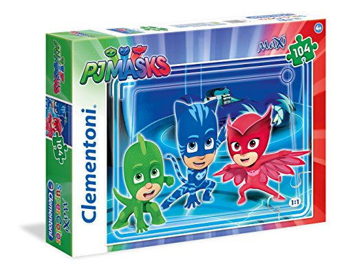Clementoni 23989 - Puzzle 104 Maxi Pj Masks