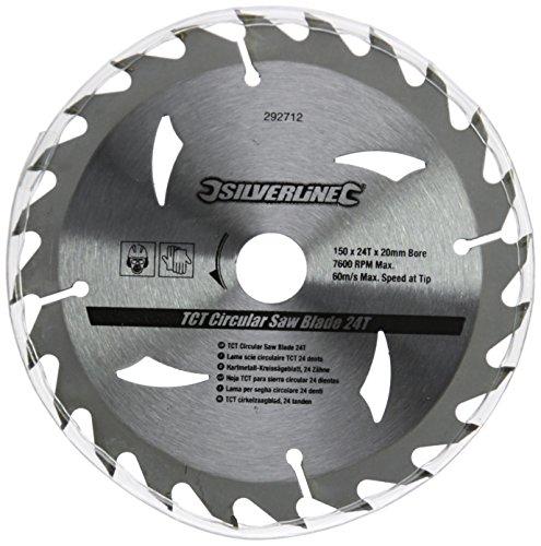 Silverline 292712 - Discos de TCT para sierra circular 16, 24, 30 dientes, 3 pzas (150 x 20 - anillo de 16 y 12,75 mm)