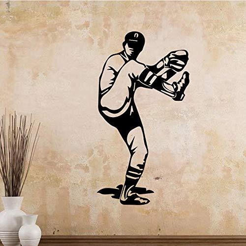 Creativo Baseball Vinyl Art Wall Sticker Murale per Soggiorno Accessori Decorazione della Casa Carta...