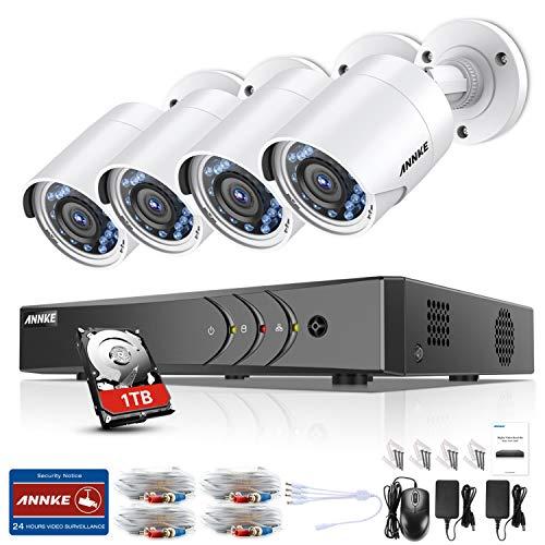 ANNKE Kit VideosorveglianzaDVR 8 Canali 3MP4 Bullet Camera 1080P HD TVI Telecamera di Sicurezza Kit Telecamere Videosorveglianza IR-Cut Visione Notturna IP66 Interno ed Esterno 1TB HDD