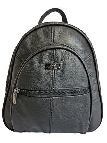 c34a37c66c Leather Backpacks Handbags – Real Leather Rucksacks Small Medium Size –  Designer Backpack Style Handbag Bag in Cow Hide – 4 Pockets – Top ...