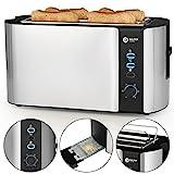 Balter Toaster 4 Scheiben  Brötchenaufsatz  Auftaufunktion  Brotzentrierung  Krümelschublade  Edelstahlgehäuse  Farbe: Silber (4 Scheiben) (4 Scheiben)