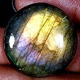 51.55CTS.100% naturale viola lampeggiante labradorite rotondo cabochon sciolto pietre preziose