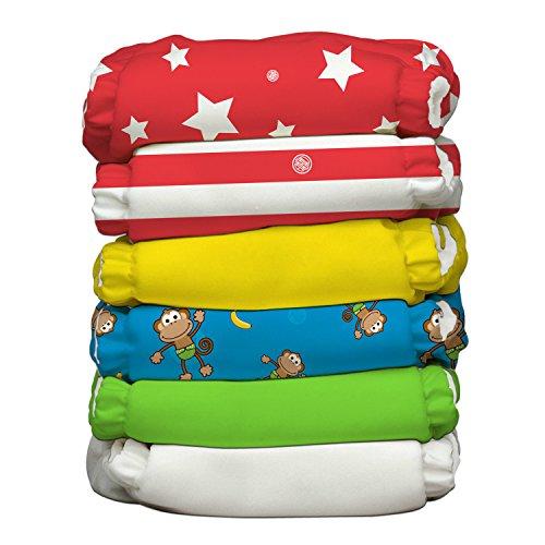 Charlie banana Circus ibrido All-in-One pannolini con dodici inserti riutilizzabili, misura 1, pezzi