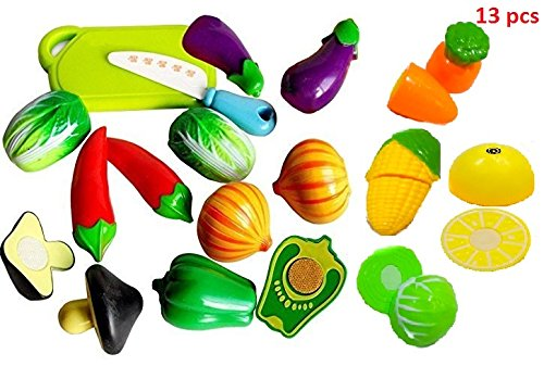 Cooking Sliceable Vegetables Cutting Play Toy Set With Velcro - 228C2( Set of 13)