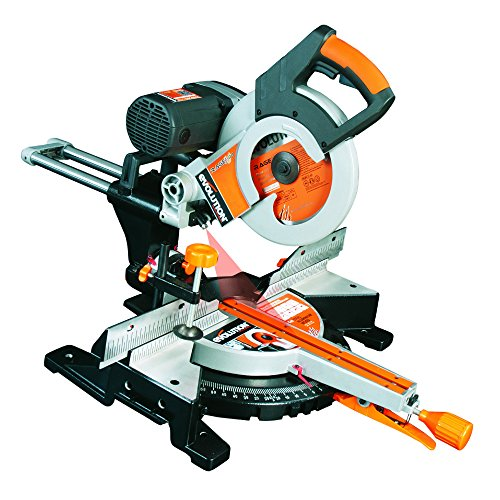 Evolution Power Tools Rage 3-DB Double Bevel Multi-Purpose Sliding Mitre Saw, 255 mm (230 V)