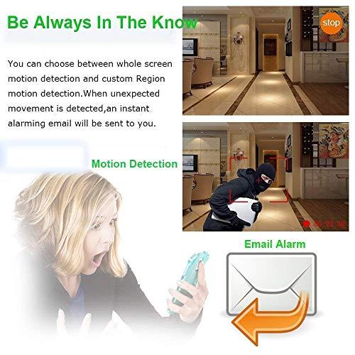 Kit de Surveillance Vidéo WiFi Aottom 8CH 720P WiFi Kit + 4pcs Caméras WiFi, Caméras de Surveillance WiFi Kit, Vision Nocturne, Détection de... 9