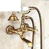 antigüedad ducha simple/cobre del grifo de bañera vintage/Cabeza de ducha ajustable de cerámica Europea-F