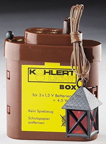 Kahlert Licht Puppenmöbel- Caso di Batteria krippenzubehör e 1 Nero LED Fuoco Lanterna