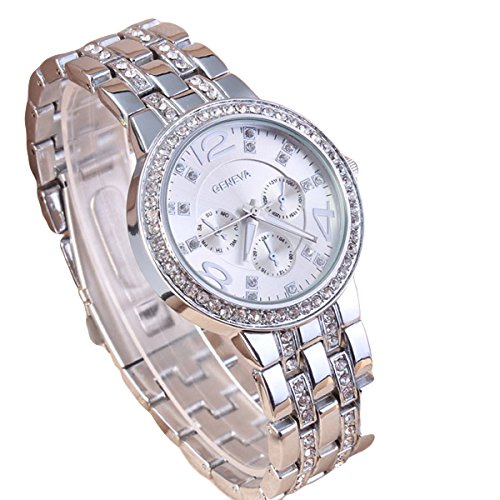 Addic Analogue Silver Dial Women's Watch-WWAddicHeavyGenevaSilver