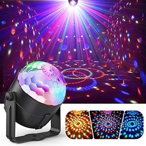 ACCEWIT Luci Discoteca LED Luci discoteca palla discoteca luce, 7 colori suono attivato luce della...