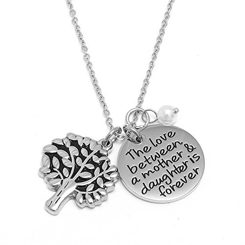 kissyan mother daughter necklace inspirational words message jewelry