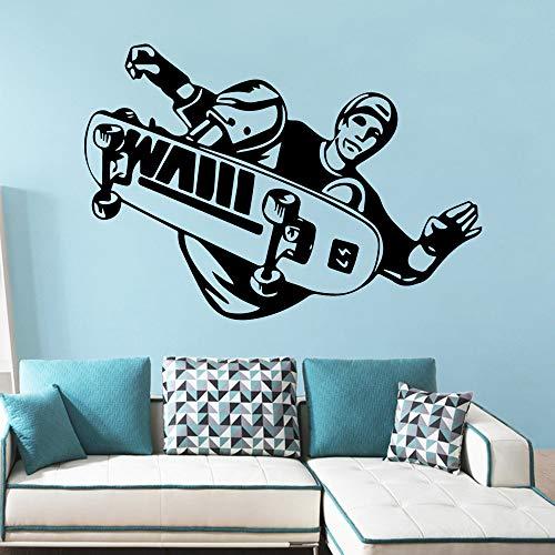 HNXDP Skate Wall Sticker per la camera dei bambini Protezione ambientale Adesivi in vinile...