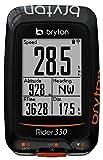 Bryton Rider 330T GPS con Cadenza e Fascia Cardio, Nero