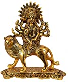 Nexplora Industries Durga Maa Hindu Goddess Religious Metal Statue Idol Sculpture,Height 20 Cm