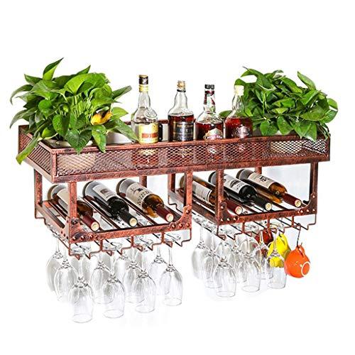 shelf Portabottiglie da Parete, Porta Bicchiere da Vino   Stand del Vino   Calice Holder Cantinetta...