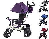 Clamaro 'Buttler GT' weiß/lila - 4in1 Kinderwagen Dreirad...