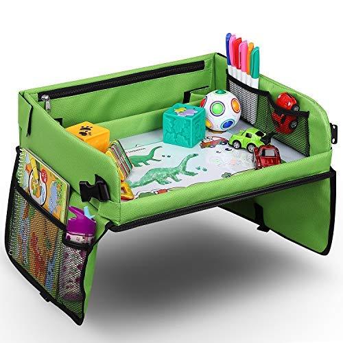 Vassoio di viaggio per auto da toddler, Lenbest Travel Snack e Play Tray da viaggio, support per...