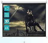 ivolum Écran de Projection Home-Cinéma ou bureautique Manuel pour vidéoprojecteur, 240 x 180 cm, 4:3