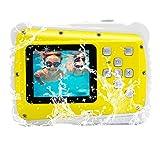 Vmotal GDC5261 Fotocamera Digitale Impermeabile con Zoom Digitale 4X / 8MP / 2' Schermo LCD TFT/Camera Impermeabile per Bambini Regalo di Natale (Giallo)