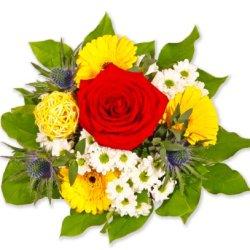 """floristikvergleich.de Blumenstrauß Blumenversand """"Blumige Geburtstagsgrüße"""" +Gratis Grußkarte+Wunschtermin+Frischhaltemittel+Geschenkverpackung"""