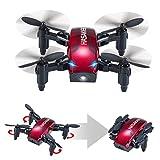 HASAKEE Mini Drone Pieghevole con Controllo Altitudine e Funzione...