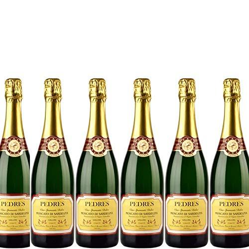 6 bottiglie per 0,75l -MOSCATO DI SARDEGNA - VINO SPUMANTE DOLCE DOC