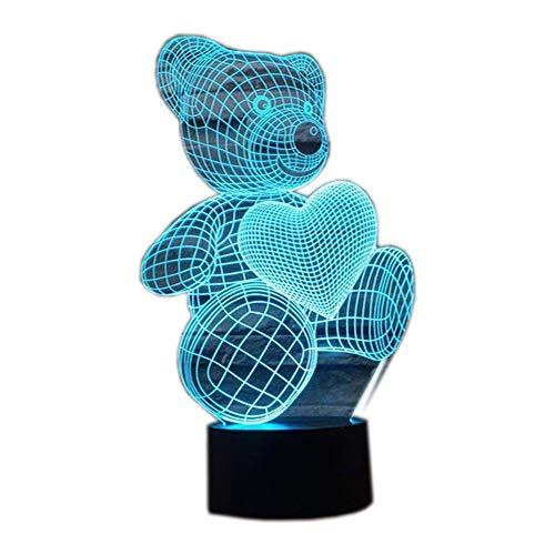Ahat 3D lampada LED (Amore Orso)