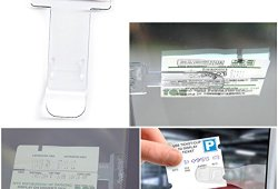 2–Véhicule Voiture Van Caravane pare-brise fenêtre Parking Ticket Clip Support Transparent Acheter en ligne