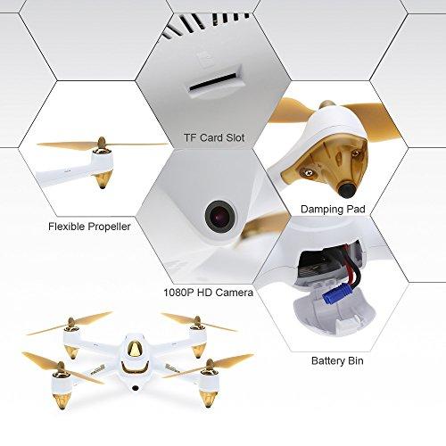 Hubsan H501S X4 Brushless FPV Quadricoptère Drone GPS avec Caméra 1080P HD 5.8Ghz(H501S Blanc) 5