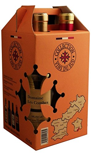 Collection Vins du Sud South of France Wine Gift Pack, 37.5 cl (Case of 4)