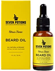 Beard Oil 30ml All Natural, Organic, Vegan. A Citrus Scented Beard Conditioning Oil That Makes a man's Beard Soft & Stops Beard Itch. A Beard Softener With Jojoba Oil