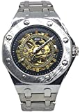 EREMITI JEWELS Automatic or Mechanical Wrist Watch with Rechargeable Cord Model Maserati Style AUDEMARS PIGUET Gift Idea for Men Total Silver