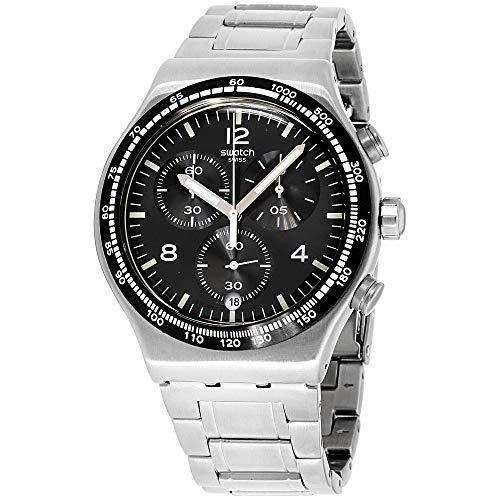 Swatch Orologio Cronografo Quarzo Uomo con Cinturino in Acciaio Inox YVS444G