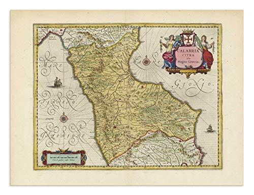 the Blaeu Prints | Catanzaro, Calabria - Mappa storica Stampa da Atlas Antico di Joan Blaeu - Mostra Mappa Antica: Catanzaro, Lamezia Terme, Cosenza