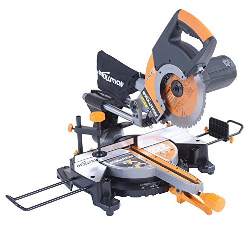 Evolution RAGE3+ Multipurpose Sliding Mitre Saw with Accessory Pack, 230 V, 255 mm