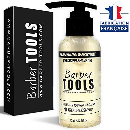 BARBER TOOLS  Gel da barba trasparente 100ml - Per una rasatura precisa dei contorni della barba (visibilità, scorrimento e massima protezione) - MADE IN FRANCE