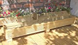 Deck Planter Box 120cm Handmade Wooden Planter Boxes Pressure Treated Wooden Planters A Wooden Garden Planters With A Natural Finish
