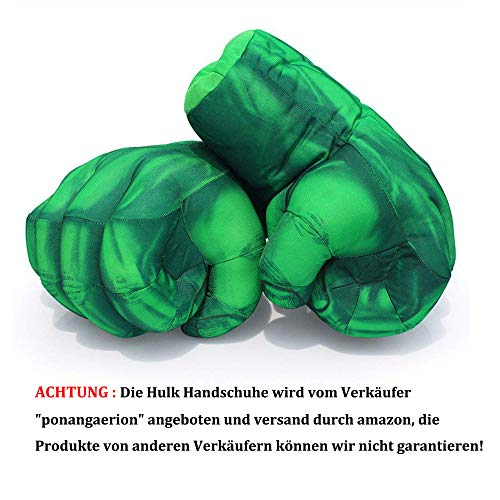 Superhero Hulk Hands, Hulk Gloves Plush Hulk Fist Boxing Gloves Cosplay Costume for 18th 21st 30th...