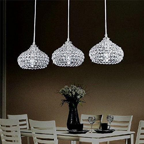 FEEKENBU Lampadario moderno a sospensione a 3 luci a soffitto per la cucina, con pendenti in...