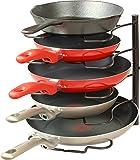 Callas Kitchen Cabinet Pantry Pan and Pot Lid Organiser Rack Holder, Black CA. 63