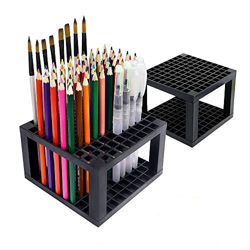 Portamatite in plastica con supporto for pentole con 96 slot - Desk Stazionario contenitore for...