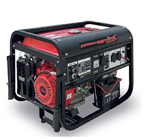 Generador Corriente 4tiempos gasolina 5500W Grupo electrógeno arranque a llave Electrónico Camping 5,5KW