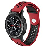 Pinhen 20 mm Quick Release Watch Band, 20 mm silicone Band cinturino di ricambio per Ticwatch e S 2 nd/Gear S2 Classic/Moto 360 2 nd Gen da uomo 42 mm/Huawei Watch 2
