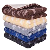 """MerryMaple Paws Vet Pet Bed Pro Non Slip Rubber Backing Machine Wash - 20 Colours, Various Sizes Veterinary Bedding® (Black with Grey Paws, 76cm x 50cm (30"""" x 20""""))"""