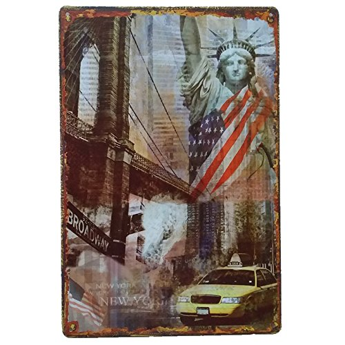 New York Nueva Decoracion Casa Placa Decorativa Pared Cartel Vintage Chapa