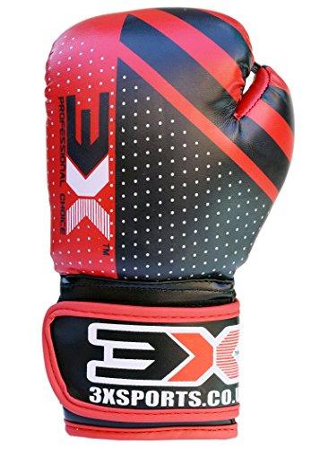 3x guanti da boxe per sport per bambini Junior MMA Muay Thai Kick Boxing per bambini,...