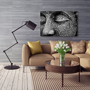 Feeby Frames, Cuadro de pared, Cuadro decorativo, Cuadro impreso, Cuadro Deco Panel, BUDA 2, BLANCO Y NEGRO 5
